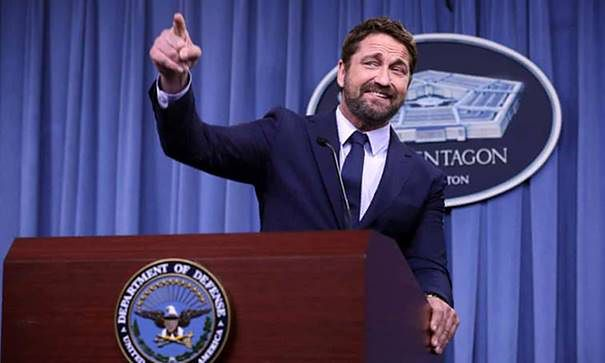 "Gerard Butler promuje ""Ocean Ognia"" w Pentagonie! (film już w kinach)"