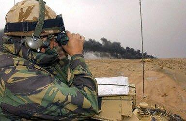 Linia frontu w pobliżu Basry (fot. AFP)