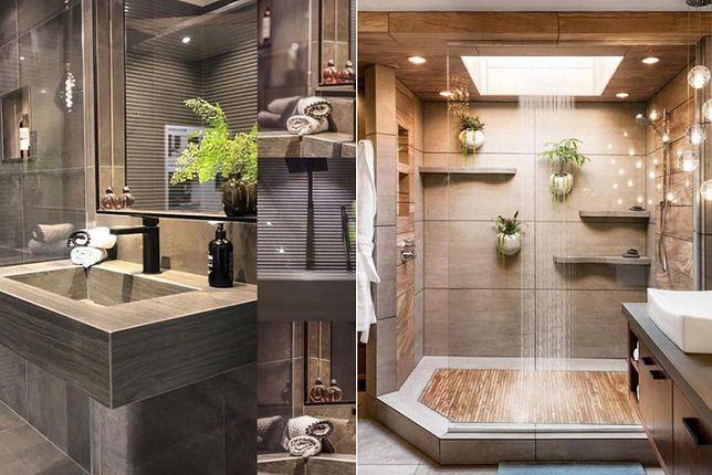 Płytki matowe świetnie nadają się do łazienki utrzymanej w kolorach natury