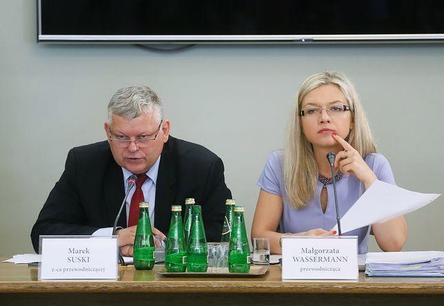 Marek Suski i Małgorzata Wassermann na posiedzeniu komisji ds. Amber Gold.