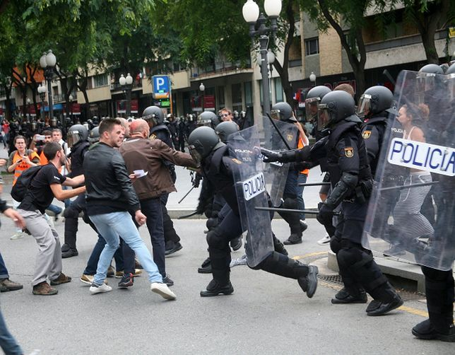 Policja użyła siły w Katalonii