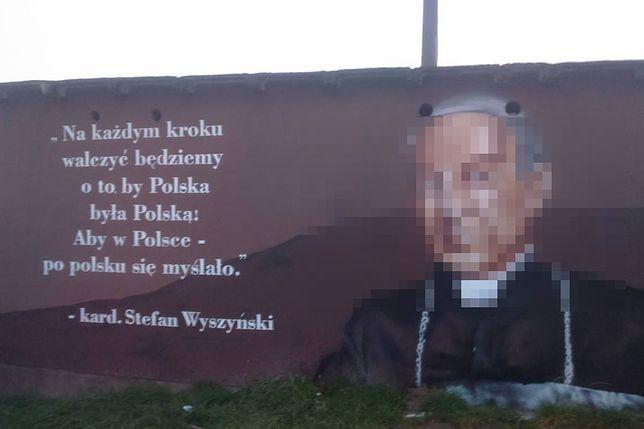 Wyszyński jak De Niro i Radziwiłł. Mural prymasa w Koninie wywołał burzę