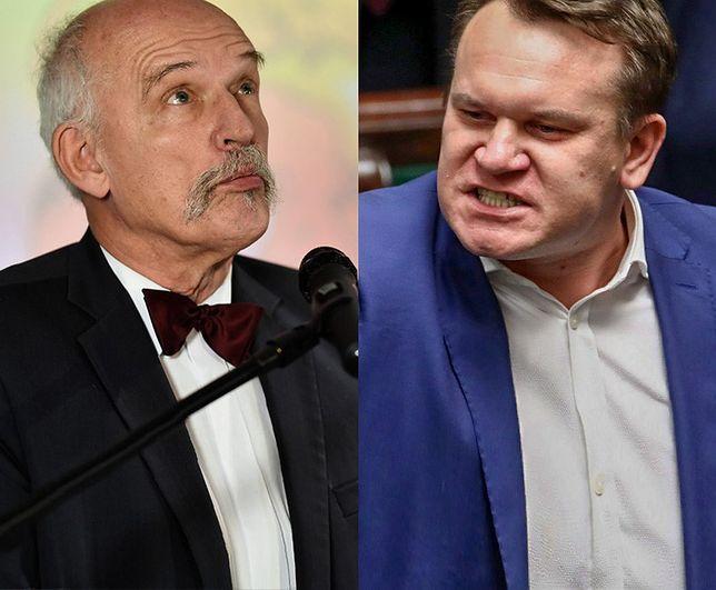 Na razie doszło do ostrej wymiany słów między Januszem Korwinem - Mikke a Dominikiem Tarczyńskim