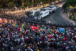 Birma. Policja pacyfikuje demonstrantów. Są ranni, kobieta w stanie krytycznym