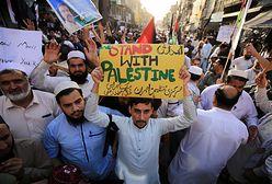 Konflikt w Strefie Gazy. Demonstracje solidarności z Palestyną i Izraelem