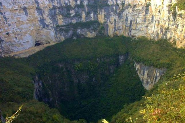 Lej krasowy Heavenly Pit, Chiny