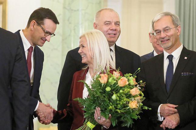 Bożena Borys-Szopa (w środku) przystopowała reformę umów cywilnoprawnych. Pomysł jednak nie upadł.