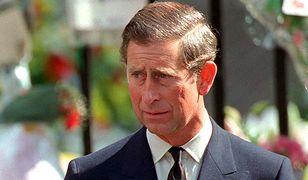 Książę Karol na pogrzebie księżnej Diany