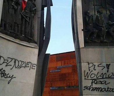 Zamalowany Pomnik Poległych Stoczniowców