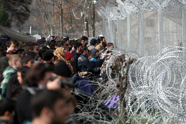 Migranci na granicy Grecji i Macedonii