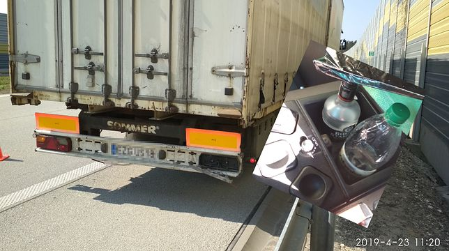Kierowca podejrzanie prowadził ciężarówkę