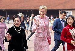 Wietnamska przygoda pierwszej damy. Takiej jej jeszcze nie widzieliśmy