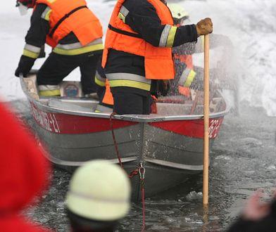 Poznań. Ze stawu wyłowiono ciało mężczyzny. Najpierw znaleziono psa