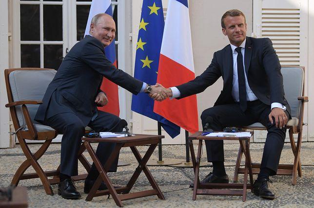Spotkanie Macron - Putin. Jednym z tematów sprawa Ukrainy i wybuchu w Rosji
