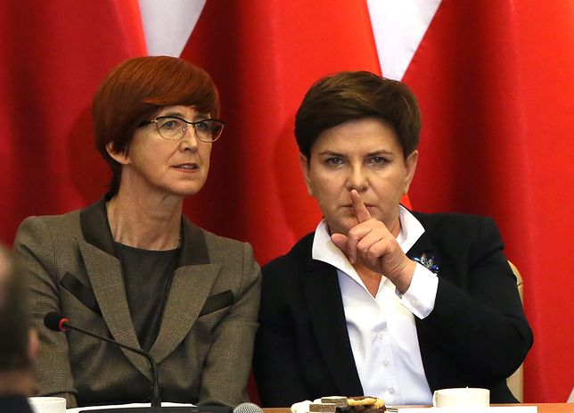 minister Elżbieta Rafalska oraz premier Beata Szydło
