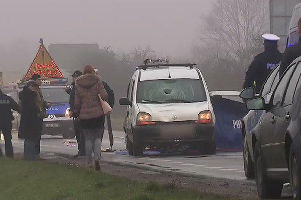 Śmiertelny wypadek na pasach w Łodzi - pieszy nie żyje