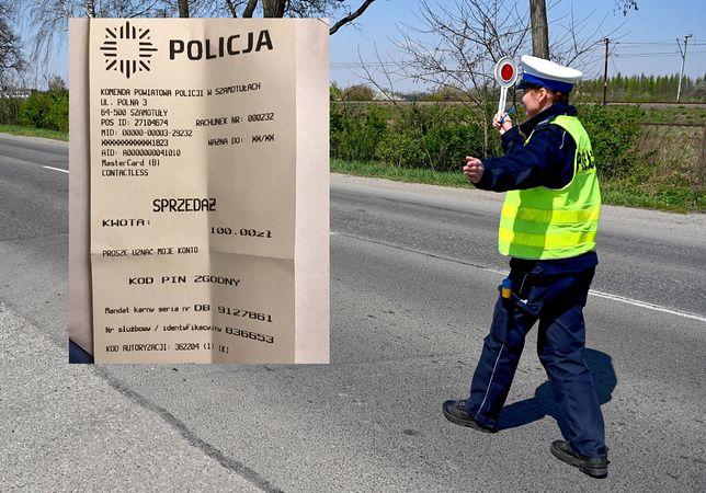 """Policja wychodzi """"naprzeciw oczekiwaniom klientów"""". Mandat można zapłacić kartą"""