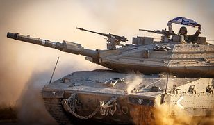 Izraelski czołg na granicy Strefy Gazy