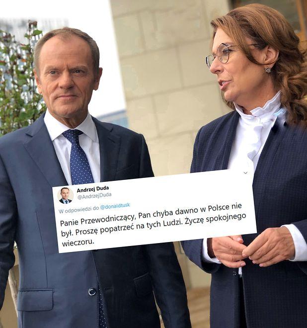 Wybory parlamentarne 2019. Andrzej Duda odpowiada Donaldowi Tuskowi