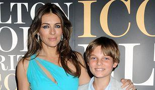 Liz Hurley z synem Damianem w 2013 roku