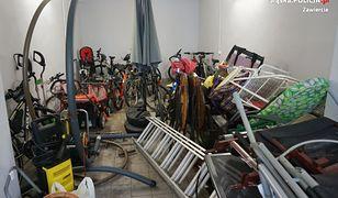 Podejrzany chował swoje łupy w garażu