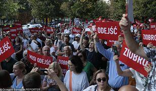 Warszawa. Demonstracja przed KPRM
