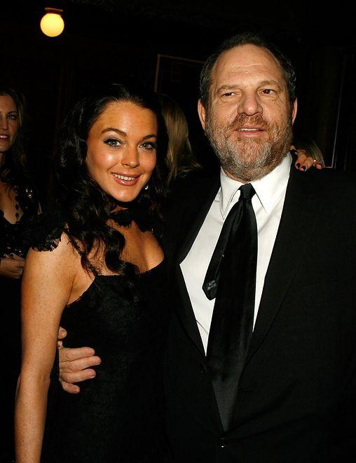 Lindsay Lohan i Harvey Weinstein, Hollywood 2006.