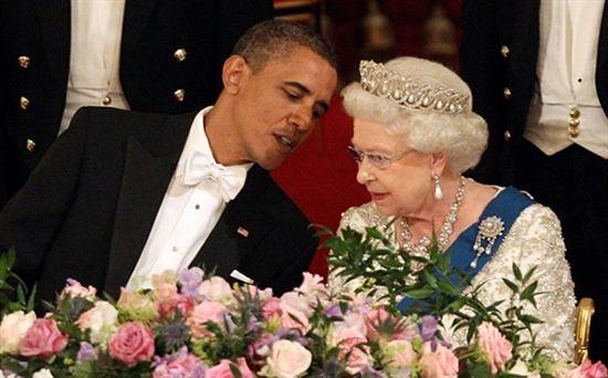 Co szeptał Obama do ucha królowej? - zdjęcia