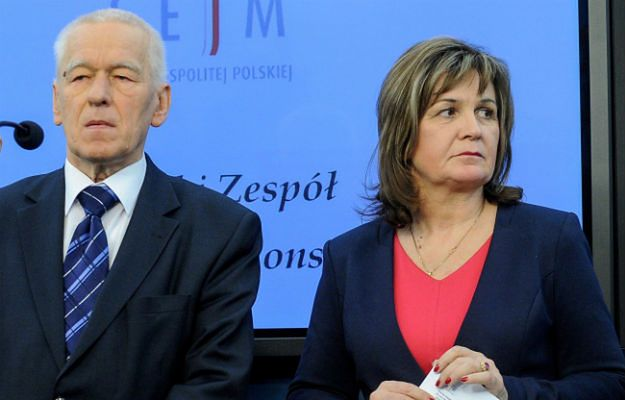 Marszałek senior, poseł Kukiz''15 Kornel Morawiecki i posłanka Kukiz''15 Małgorzata Zwiercan