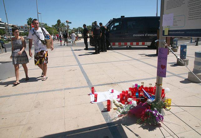 Miejsce ataku terrorystycznego w Cambrils w Hiszpanii