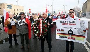 Marsz narodowców w Oświęcimiu w 74. rocznicę wyzwolenia obozu Auschwitz