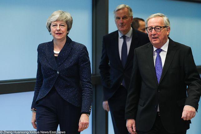 Brexit: kolejna szansa na przełamanie impasu ws. wyjścia w Wielkiej Brytanii z UE. Na zdjęciu premier Wielkiej Brytanii Theresa May (L) i przewodniczący KE Jean-Claude Juncker (P)