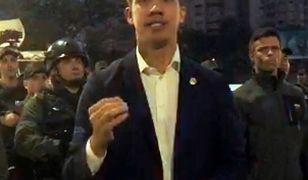 Juan Guaido ogłosił rozpoczęcie powstania w wideo umieszczonym na Twitterze