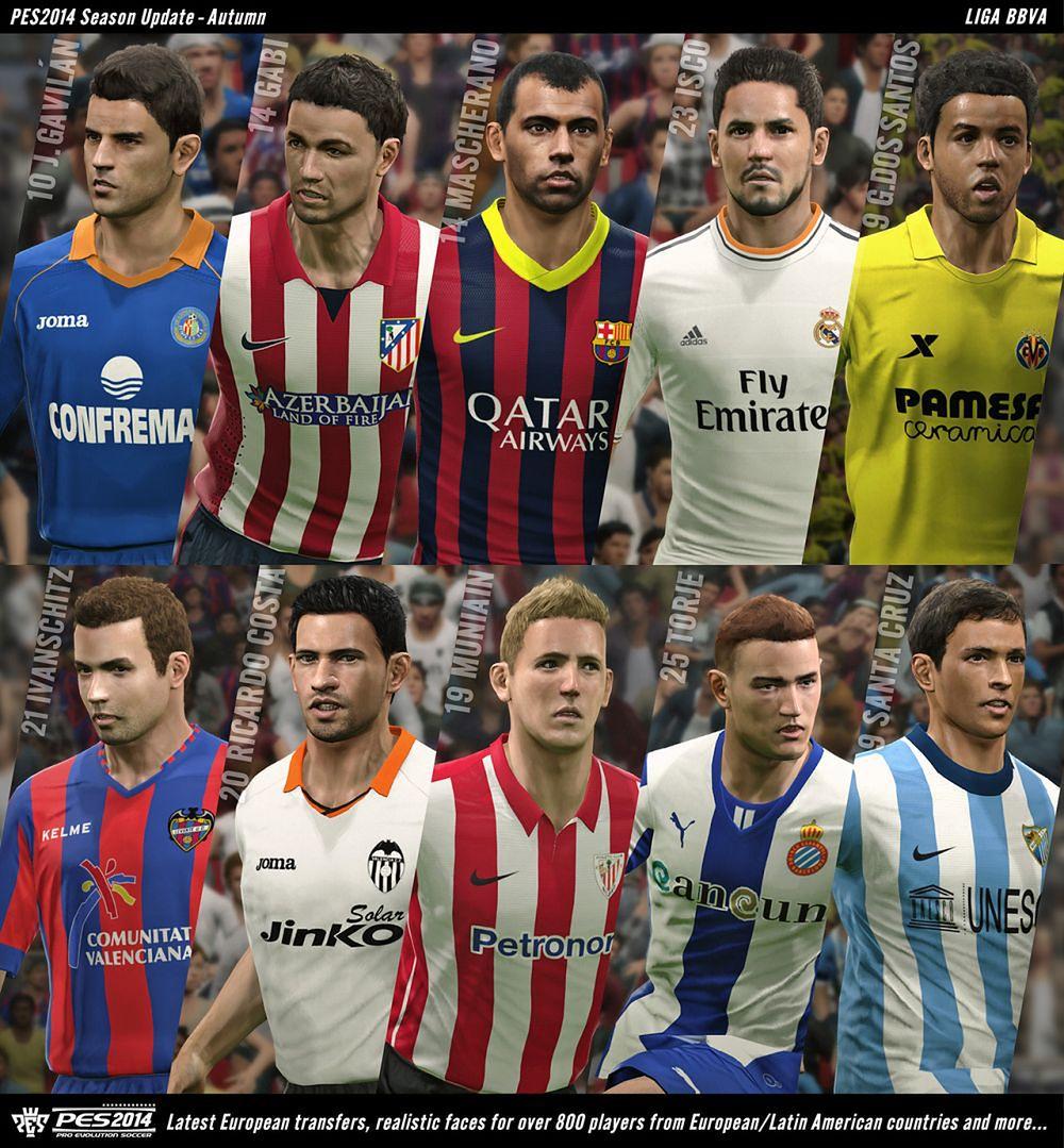 PES 2014 doczeka się 800 nowych twarzy zawodników i trybu 11 na 11, a FIFA 14 ma być stabilniejsza