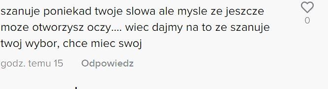 Komentarze społeczności na jeden z filmów Zuzanny Wiewiórki