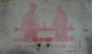 Niezwykłe graffiti z lat 80 odkryte na warszawskim placu Na Rozdrożu