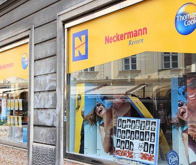 Neckermann był częścią Thomasa Cooka i jego niewypłacalność jest związana z ogłoszonym  bankructwem brytyjskiego biura podróży.