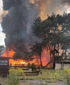Pożar w Gdańsku. Dym i ogień przy deptaku na molo