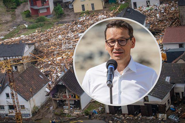 Premier Morawiecki chce pomóc Merkel. Chodzi o powodzie w Niemczech