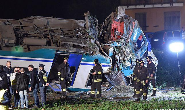 Wypadek kolejowy we Włoszech. Są zabici i ranni