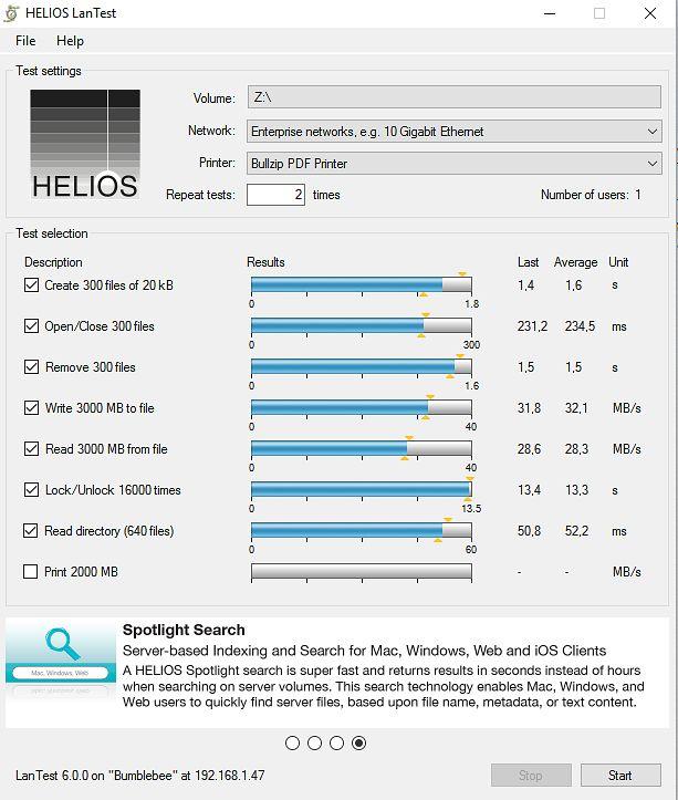 Test transferu danych poprzez LAN na BanaNAS-ie