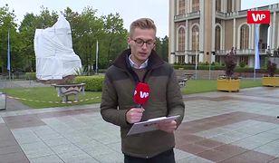 Pedofilia w Kościele. Zasłonili pomnik księdza w Licheniu. Relacja reportera WP