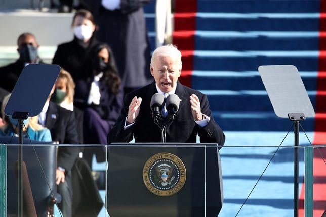 Joe Biden podczas zaprzysiężenia