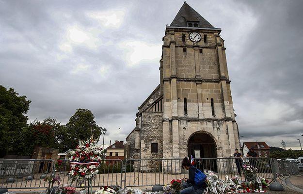 Kościół w Saint-Etienne-du-Rouvray, gdzie doszło do zabójstwa księdza