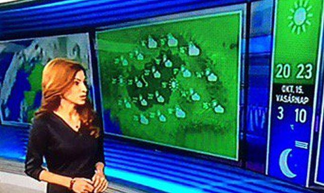 Kadr z węgierskiej telewizji państwowej.