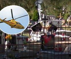 Dramat na cmentarzu w Wielkopolsce. Lądował helikopter. Dziecko w szpitalu
