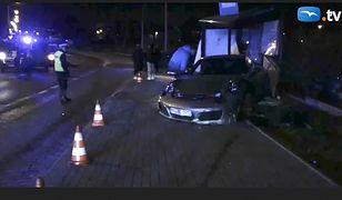 Gdańsk. Wypadek porsche