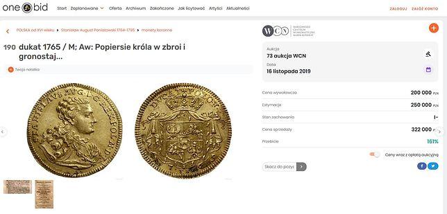 Rekordowa moneta została sprzedana za ponad 320 tys.