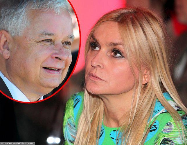 Monika Olejnik i Lech Kaczyński