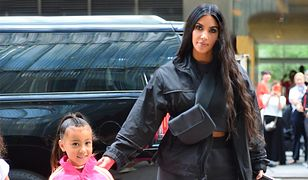 Kim Kardashian z córką, North West.